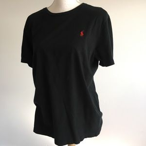 Polo Ralph Lauren | black red logo t shirt